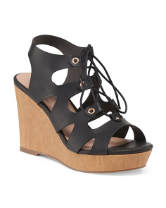 Lace Up Gilly Wedge