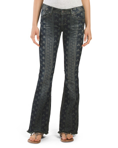 Juniors Tapestry Flare Jean