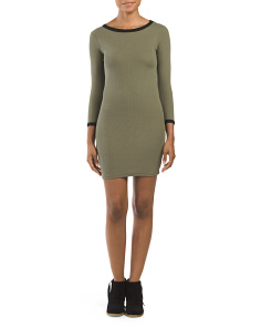 Juniors Bodycon Ribbed Dress