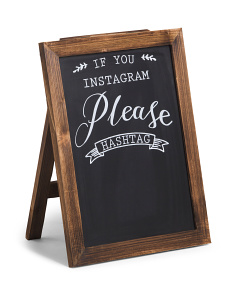 16x20 Please Hashtag Chalkboard Sign