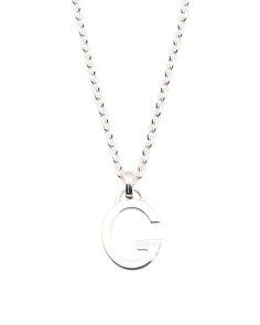 Made In Italy Sterling Silver G Charlotte Necklace
