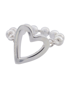 Made In Italy Sterling Silver Toggle Heart Ring