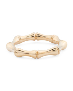 Made In Italy 18k Gold Bamboo Spring Ring