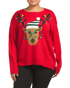 Plus Reindeer Christmas Sweater