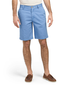 Flat Front Salt Water Washed Chino Shorts