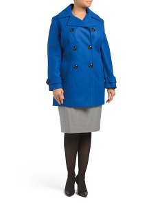 Melton Double Breasted Wool Coat