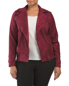 Plus Juniors Faux Suede Jacket