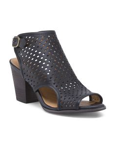 Perforated Leather Booties