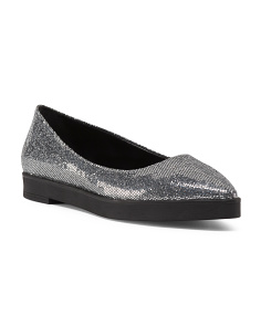 Made In Italy Pointed Glitter Flat