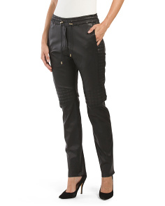 Leather Nior Quilted Moto Pant
