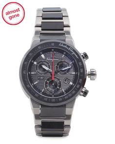 Men's Swiss Made F-80 Titanium And Ceramic Bracelet Watch
