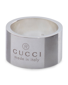 Made In Italy Sterling Silver Trademark Wide Ring