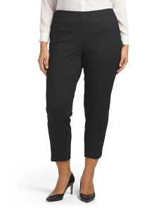Plus Pull On Jacquard Ankle Pants