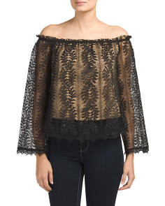 Maryann Lace Off The Shoulder Top