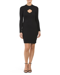 Juniors Long Sleeve Mock Neck Dress