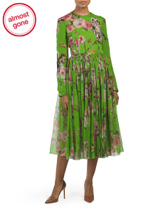 Made In Italy Silk Floral Dress