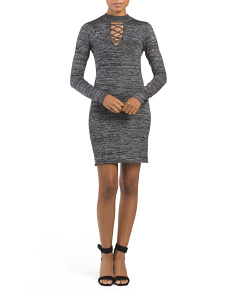 Juniors Marled Sweater Dress