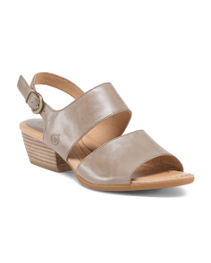 2 Band Ankle Wrap Leather Sandals