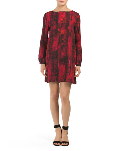 Juniors Jenelle Printed Shift Dress