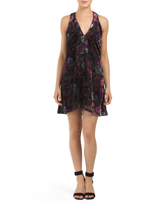 Juniors Kenzie Velvet Burnout Dress