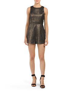 Juniors Piccolo Metallic Romper