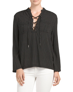 Tie Up Bell Sleeve Top
