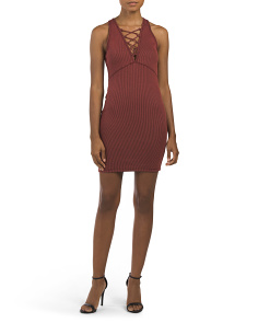 Juniors Made In USA Ribbed Dress