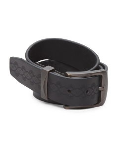 Leather Embossed Casual Belt