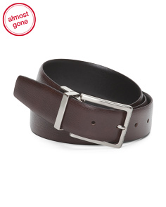 Texture Reversible Leather Belt