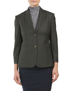 Virgin Wool Blend Linworth Continuous Jacket