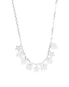Made In Italy Sterling Silver Trademark Charm Necklace