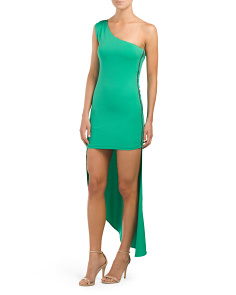 Juniors One Shoulder Hi Lo Dress