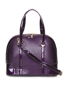 Patent Textured Dome Satchel