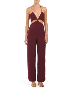 Juniors Strappy Cut Out Jumpsuit