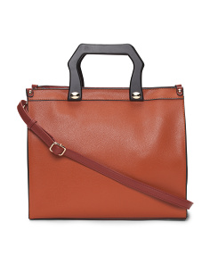 Satchel With Square Handles