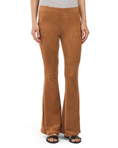 Juniors Faux Suede Flare Pants