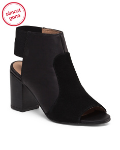 Peep Toe Open Back Bootie