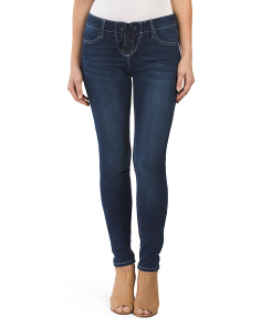 Juniors Lace Up Skinny Jeans