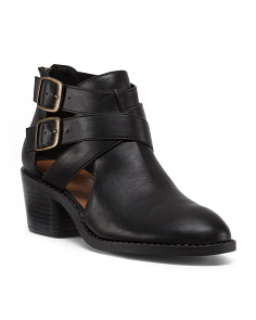 Low Double Buckle Bootie
