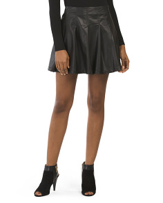 Juniors Faux Leather Mini Skirt