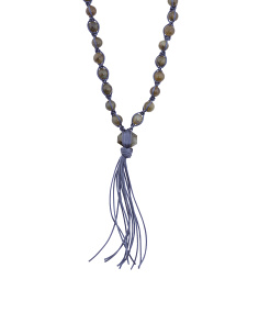 Made In USA Sterling Silver Labradorite Tassel Necklace