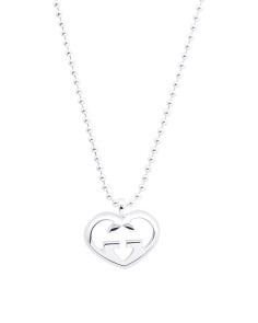Made In Italy Sterling Silver Love Britt Double G Necklace