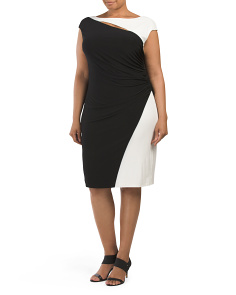 Plus Zanthie Colorblock Dress
