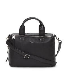 Ellen Leather Box Satchel