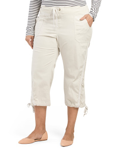 Plus Made In Usa Ruched Capris