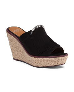 Suede Wedge Mule