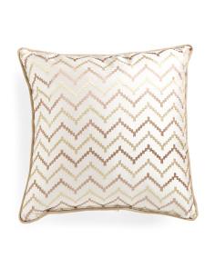 22x22 Made In USA Metallic Embroidered Pillow