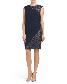 Side Ruched Asymmetrical Panel Dress