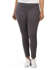 Plus Active Embossed Flat Waist Leggings