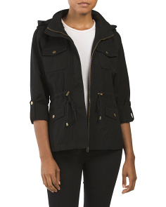 Juniors Roll Cuff Twill Anorak